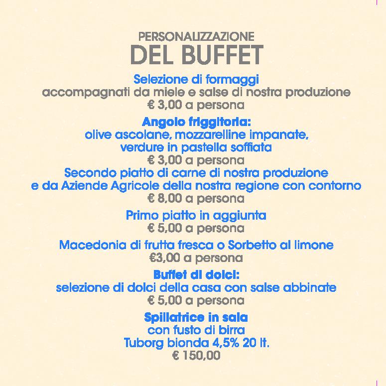 Menu Buffet Cerimonie