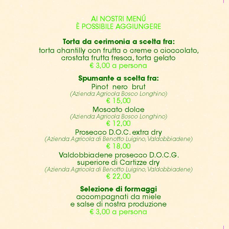 Menu Pranzo e Cena